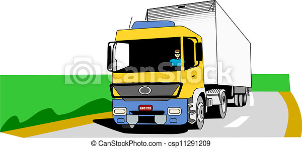 Cargo Truck On The Road - csp11291209