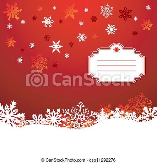 snowflakes, saudação, fundo, cartão, natal - csp11292276