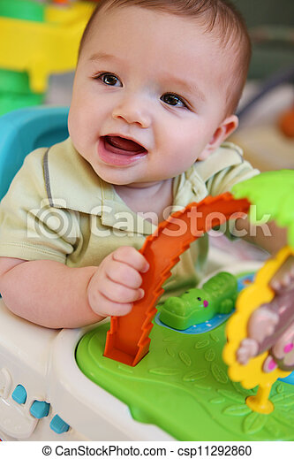 Cute Baby Boy with Toys - csp11292860