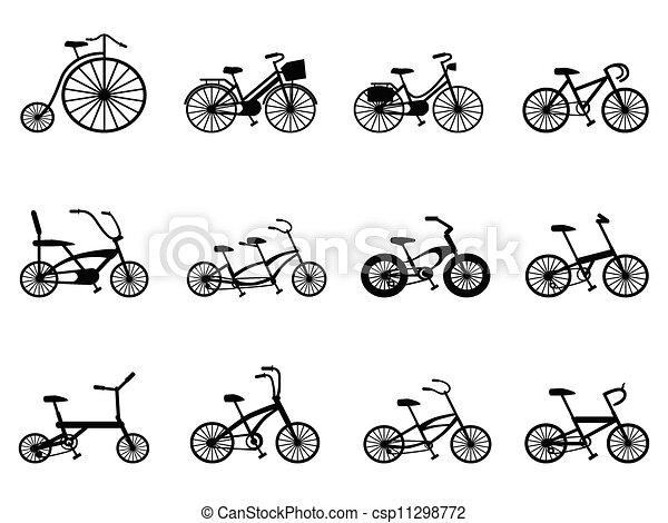 ベクター - 自転車, シルエット ...