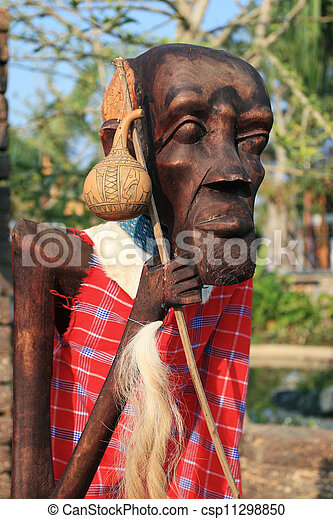 Male African wood carvings - csp11298850