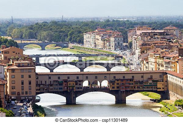 Bridges of Florence - csp11301489