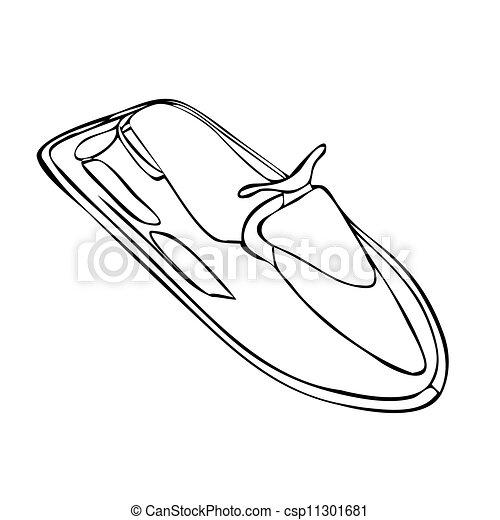 Comment dessiner un jet ski - Jet ski dessin ...