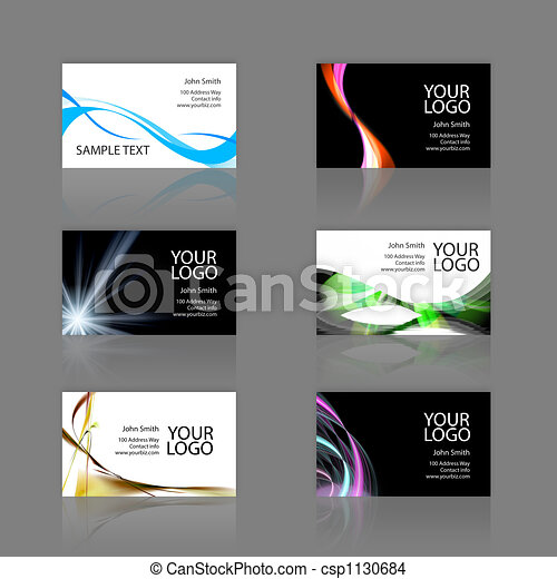 Business Cards Assortment - csp1130684