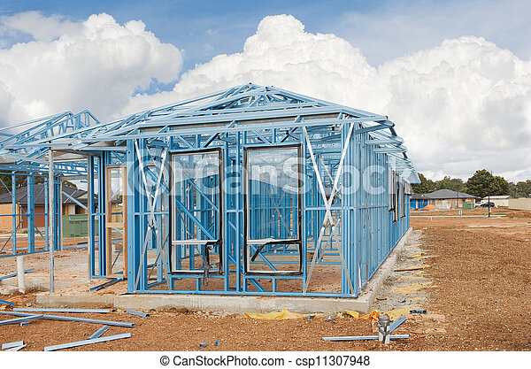 New home construction framing - csp11307948