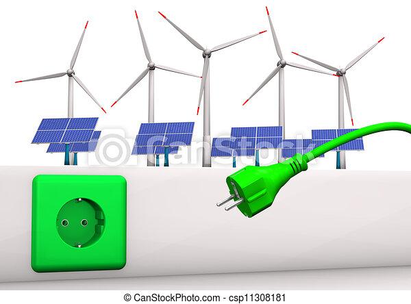 Green Energy Connector - csp11308181