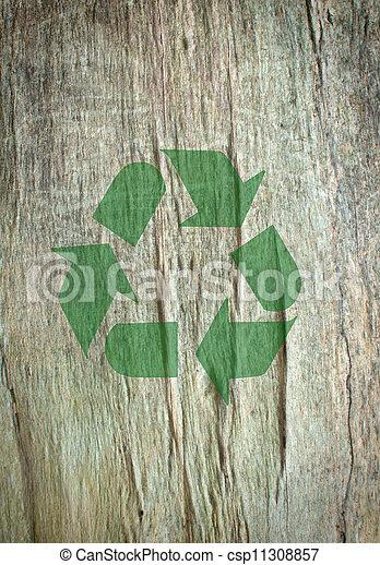 reciclar, símbolo - csp11308857