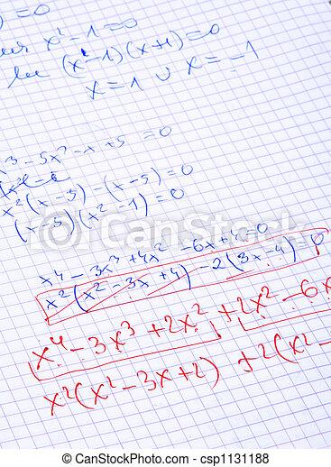 hand written maths calculations - csp1131188