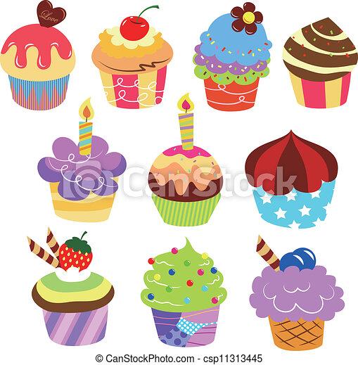 EPS vector de Pasteles, colorido, delicioso - colorido ...  EPS vector de P...