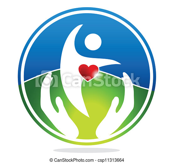 Healthy human and healthy heart sym - csp11313664