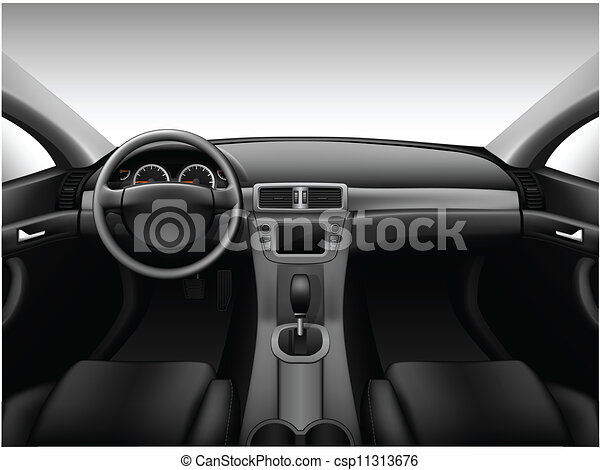 vectors illustration of dashboard car interior made with gradient mesh csp11313676 search. Black Bedroom Furniture Sets. Home Design Ideas