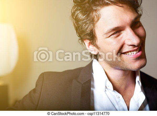 Portrait of an attractive young man - csp11314770
