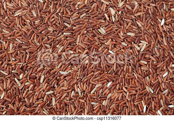 Red rice background - csp11316077