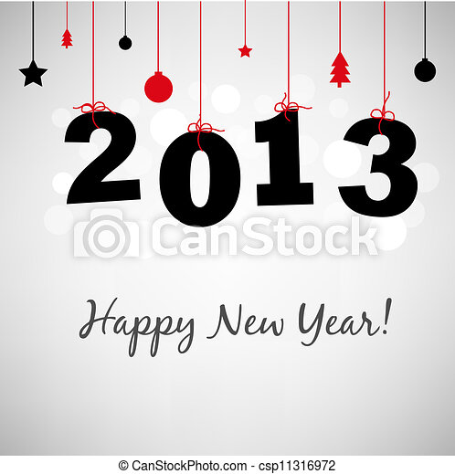 Happy New Years Card - csp11316972