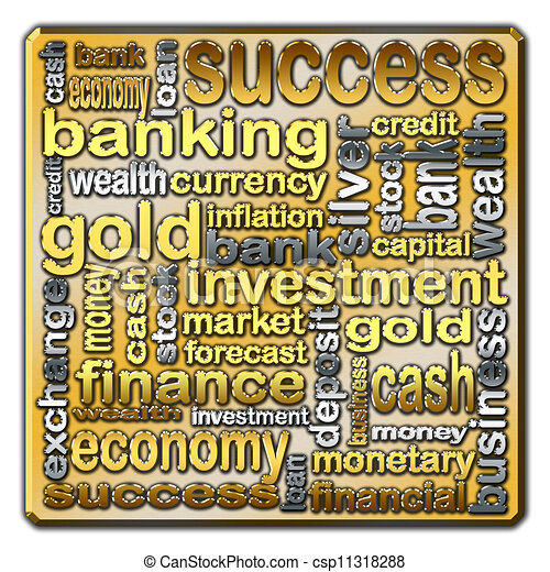 Cloud of words describing the finance and banking - csp11318288