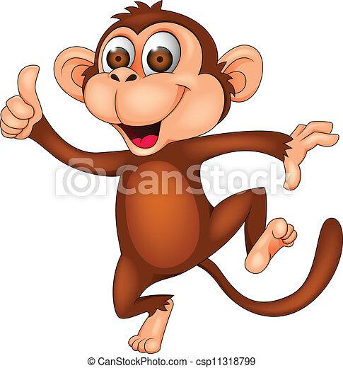 Monkey dancing - csp11318799