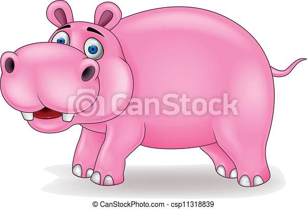 Vectores de hipopótamo, caricatura - vector, Ilustración ...
