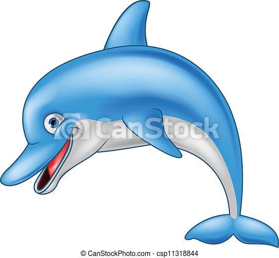 Vecteur eps de rigolote dauphin dessin anim vecteur - Dauphin dessin couleur ...