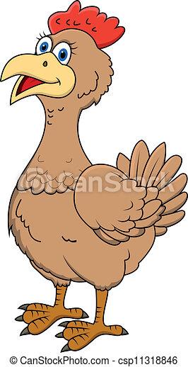 Vettore eps di gallina cartone animato vettore - Cartone animato immagini immagini fantasma immagini ...