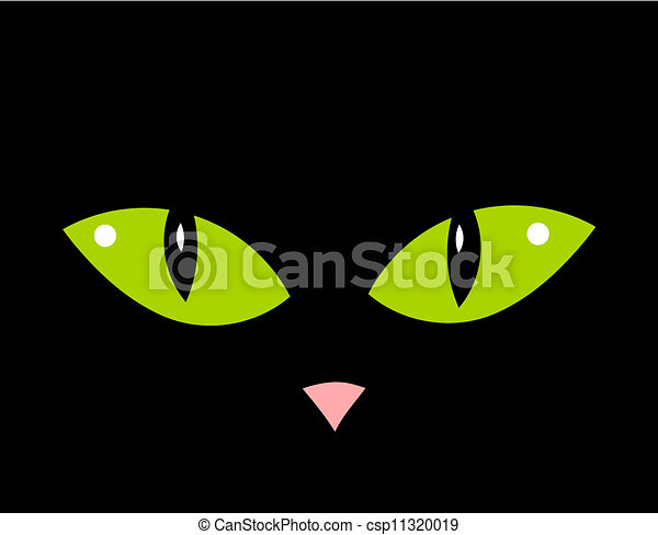 Cat With Green Eyes Clipart