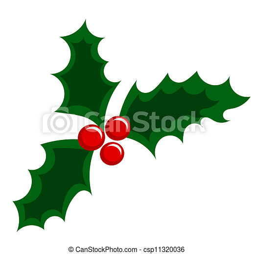 Holly berry Christmas illustration