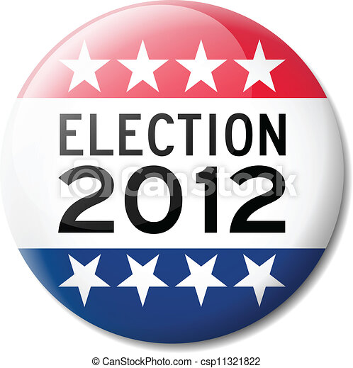 Badge for American election 2012 - csp11321822
