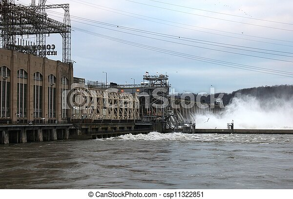 Conowingo floodgates - csp11322851