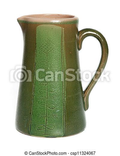 Old ceramic jug - csp11324067