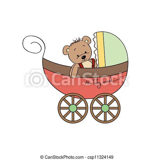 Vecteur eps de rigolote poussette ours teddy rigolote - Poussette dessin ...