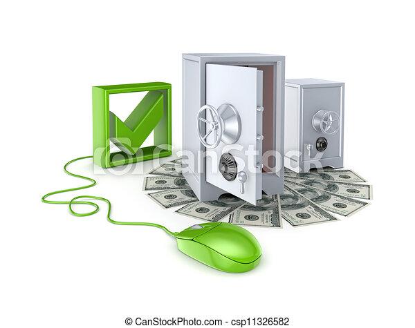 Online banking concept. - csp11326582