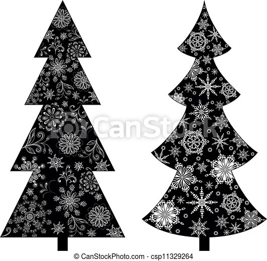 Christmas Tree Silhouette Vector Free Christmas Trees Silhouette