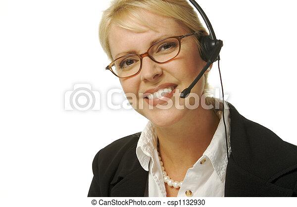 Happy helpful secretary - csp1132930