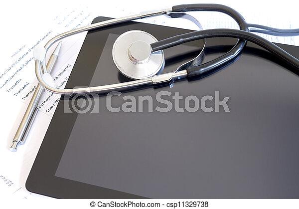 Online health benefits claim form - csp11329738