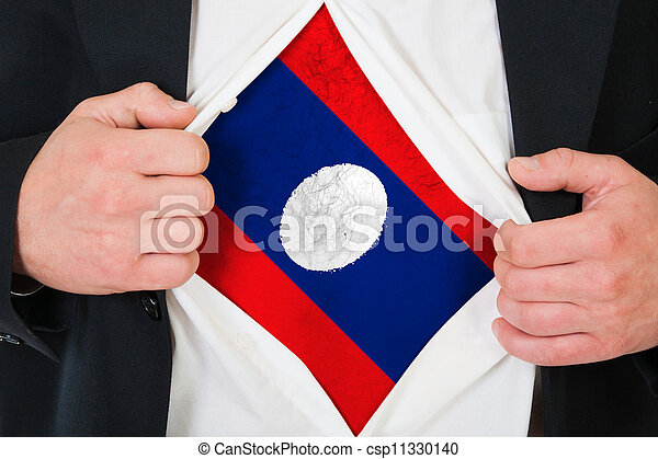 The Laotian flag - csp11330140
