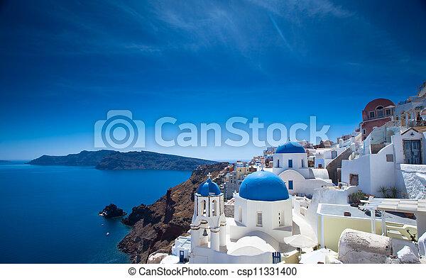 Santorini Churches - csp11331400