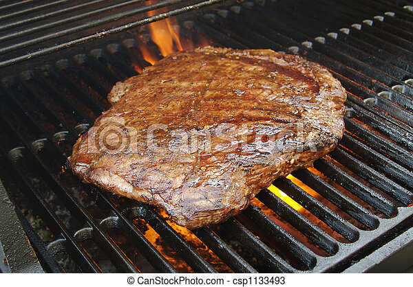 Stock Photos of Succulent Flank Steak BBQ - Succulent ...