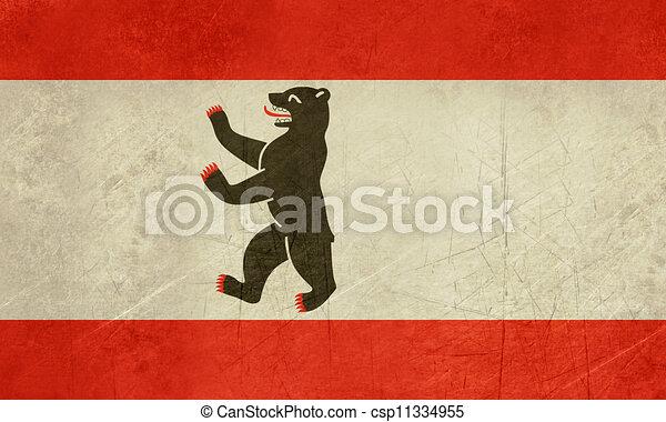 Grunge Berlin City flag - csp11334955
