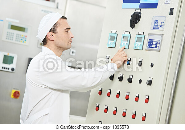 pharmaceutical factory worker - csp11335573