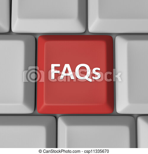FAQs Red Computer Keyboard Key Frequently Asked Questions - csp11335670
