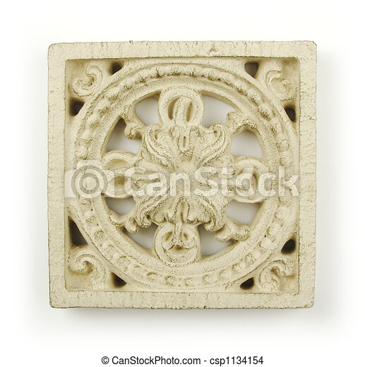 Ornate Wood Carving Ornament - csp1134154