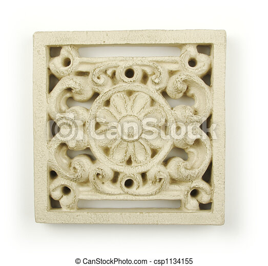 Ornate Wood Carving Ornament  - csp1134155