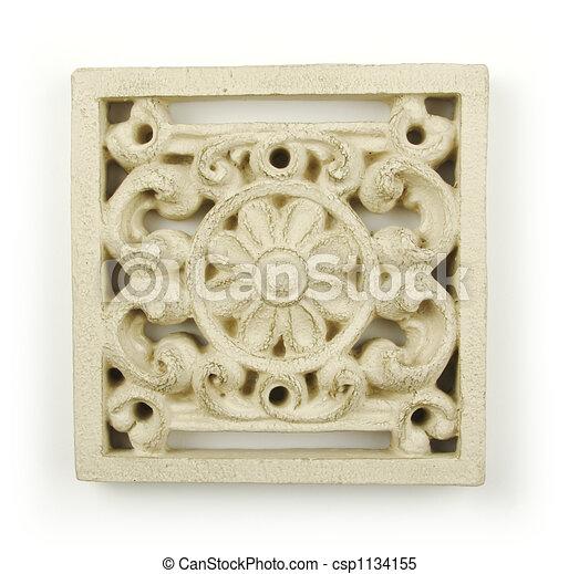 Ornate Wood Carving Ornament  - csp1134155