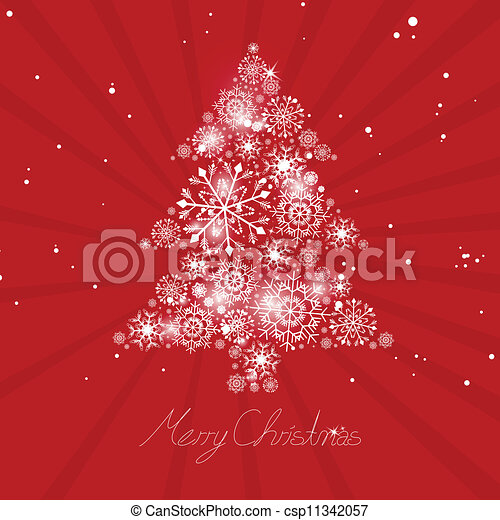 Abstract Vector Christmas Tree - csp11342057