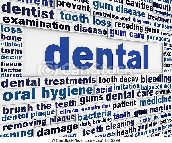 Dental medical poster design - csp11343299