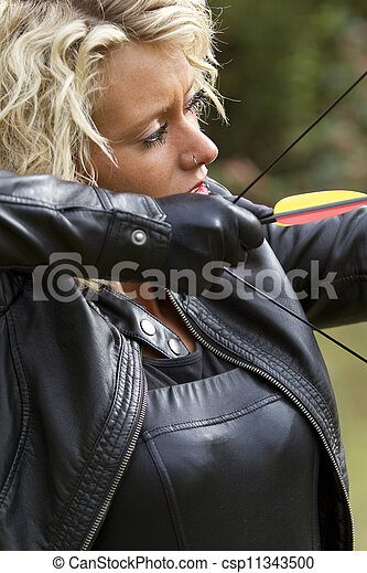 Shooting with bow and arrow