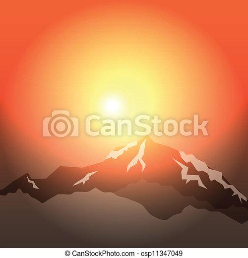 morning in mountains  - csp11347049