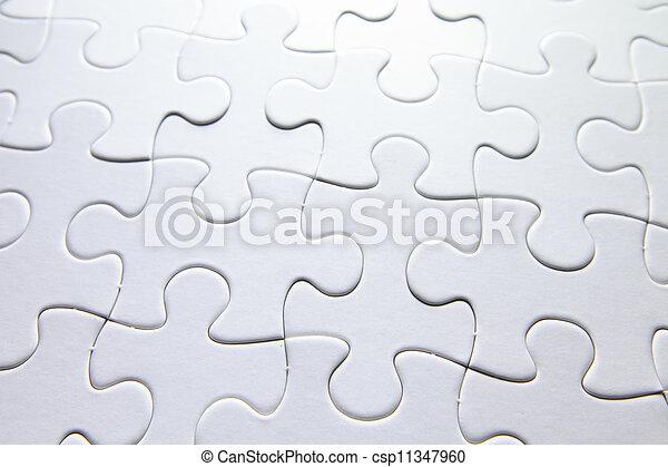 white puzzle - csp11347960