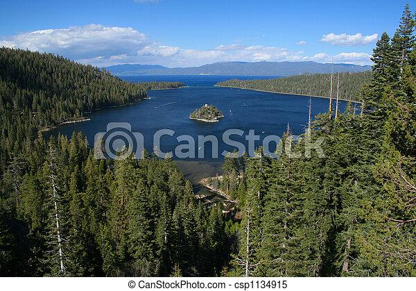 Emerald Bay in Lake Tahoe, California - csp1134915