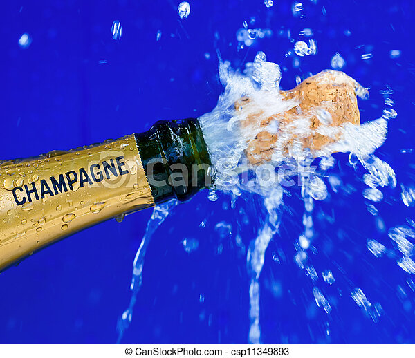 Bottle Of Champagne Is Opened Symbol Photo Celebrate For Opening