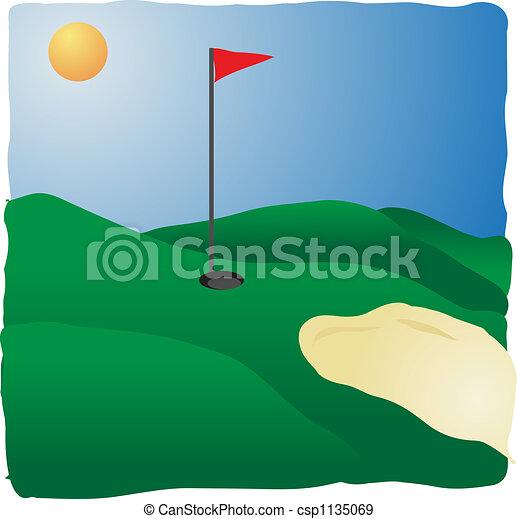 Sunny golf course - csp1135069